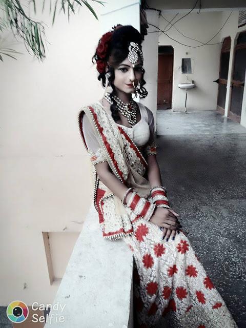 Boy Dressed As A Cute Indian Girl (5)
