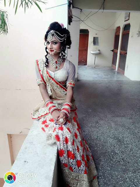 Desi Indian Crossdresser Photos In Sexy Saree And Blouse -9588